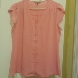 Pink Tulip sleeve buttoned down blouse